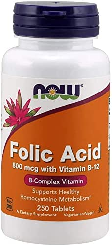 Catal Now Supplements Folic Acid mcg Super Special SALE held B-12 800 + Cyanocobalamin 67% OFF of fixed price