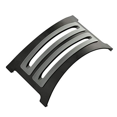 KKDWJ Ordenador portátil Soporte Vertical, de Aluminio Desmontable Titular portátil, con 2 Inserciones de Silicona Suave de reemplazo, diseño Antideslizante, Apto para Todos los portátiles,Negro