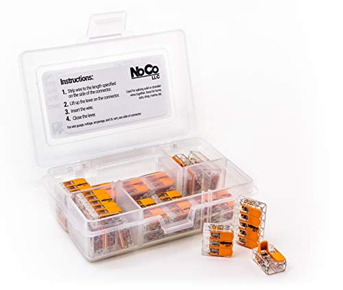 WAGO LEVER-NUTS 32pc Compact Splicing Connector Assortment Kit. Contains (14x) 221-412, (10x) 221-413, (8x) 221-415 in convenient plastic carrying case.
