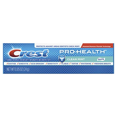 Price comparison product image Crest Pro-Health Toothpaste,  Clean Mint,  Travel Size,  TSA Approved,  0.85 Ounces / 24 Gram (Pack of 12)