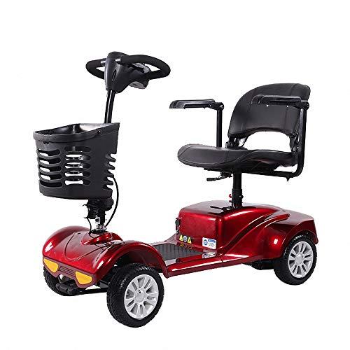 Miarui Elektrische scooter met 4 wielen, zonder rijbewijs, 200 W, 8 km/u, loopvermogen 40 km, drie-versnelling, geschikt voor ouderen, gehandicapten.