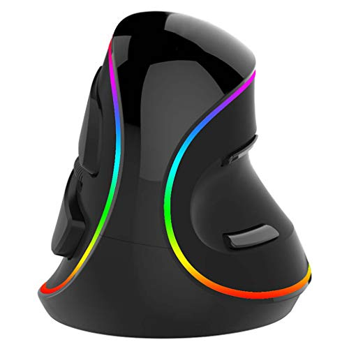 Yoking M618 Plus, vertikale Gaming-Maus, ergonomisch, 6 Tasten, RGB, kabelgebunden / kabellos, 4000 DPI für die rechte Hand