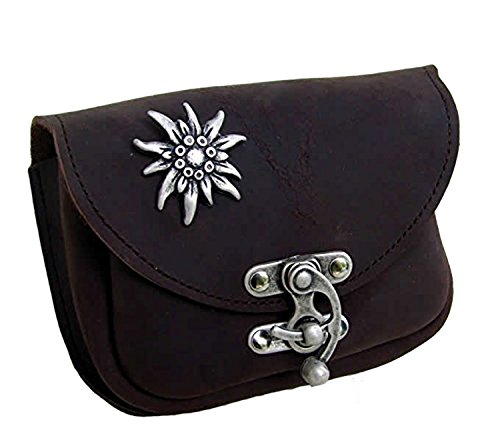 Gürteltasche Edelweiß Farbe dunkel-braun Bauchtasche Hüfttasche