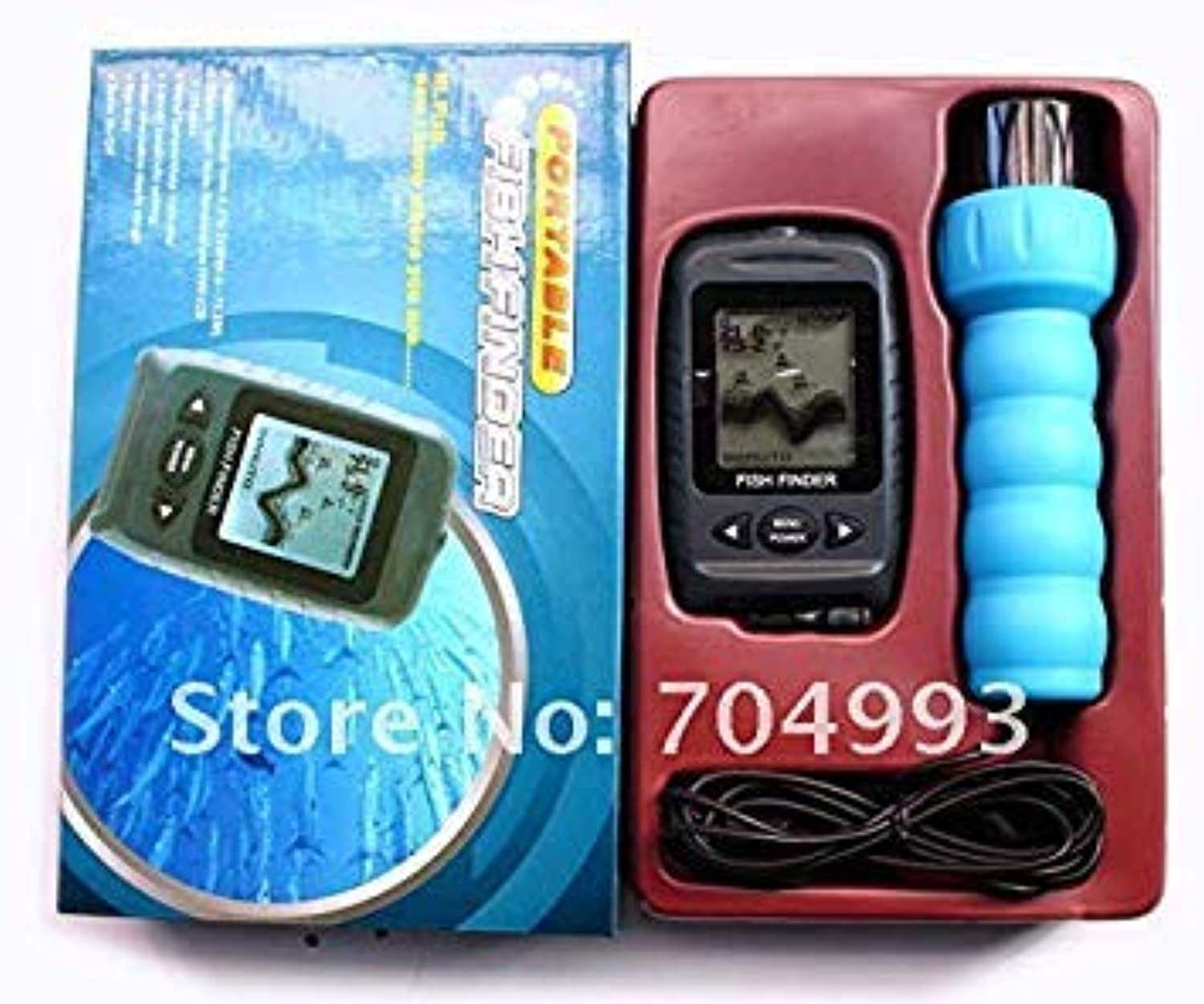 GEOPONICS New Cheap Free Scan Transducer Portable Handheld Fish Finder Used OnFish Finder