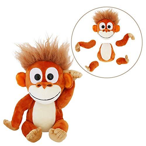 Animoodles Magnetic Randy Orangutan Stuffed Animal Plush, 7.5'