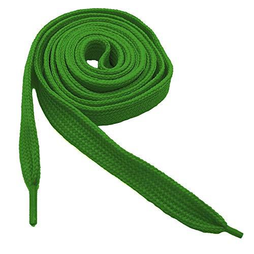 tumundo 1 Par Cordones Cuerdas Ancho Planos elástico de los Sneaker Zapatos atléticos Botas 110 cm Verde
