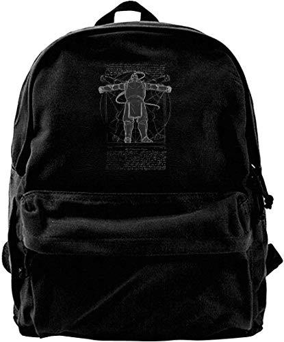 Canvas Backpack Vitruvian Alfred Full Metal Alchemist Anime Manga Japan Rucksack Gym...