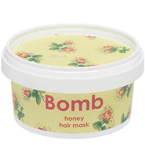 Mascarilla de miel de pelo - mascarilla para el pelo con aceite de colza de Bomb Cosmetics