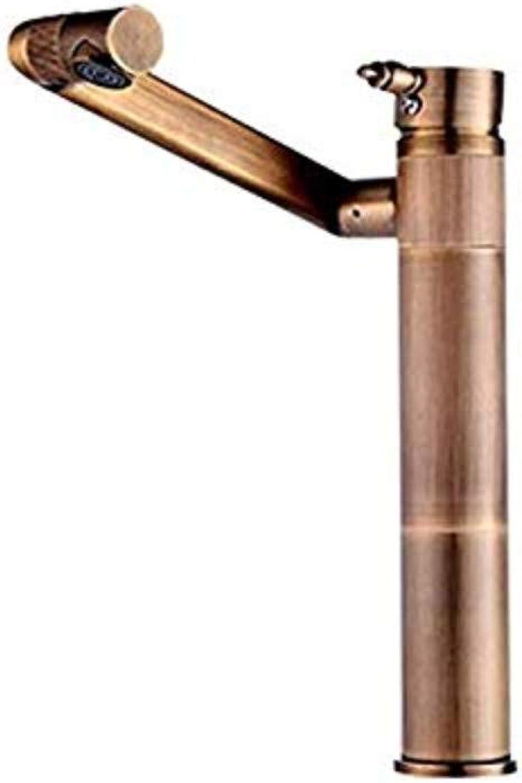 Retro Wasserhahn Küchenarmatur Vollkupfer Antik Becken Heien und kalten Wasserhahn kann um 360 gedreht werden