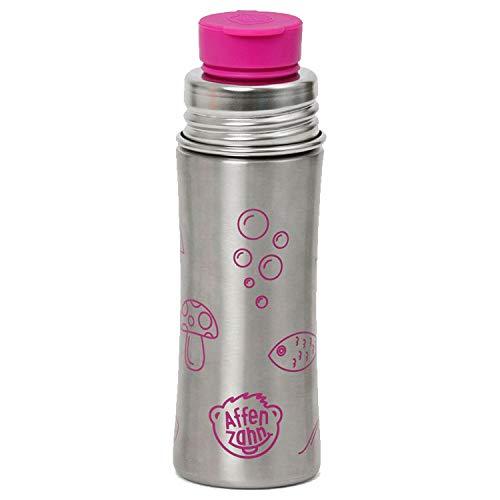 Affenzahn Trinkflasche aus Edelstahl (330ml) bpa-frei für Jungen und Mädchen im Kindergarten und Kita - Eule