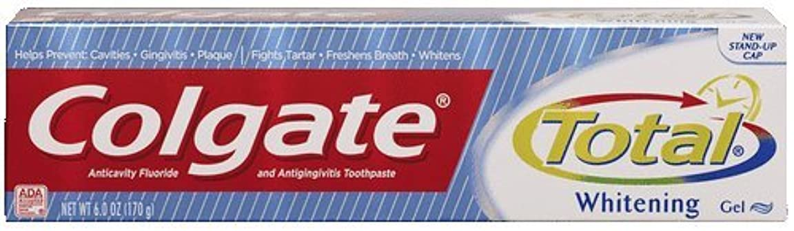 黙レタス物足りない海外直送品Colgate Colgate Total Multi Protection Whitening Gel Toothpaste, 6 oz (Pack of 6)