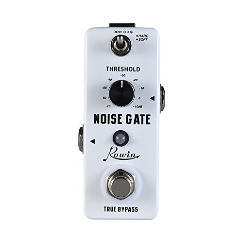 Rowin Noise Gate Noise Reduction Guitar Effect Pedal 2 Modes Aluminum Alloy Shell True Bypass