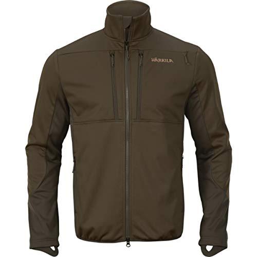 Harkila Mountain Hunter Pro WSP - Chaqueta de forro polar, color verde y marrón