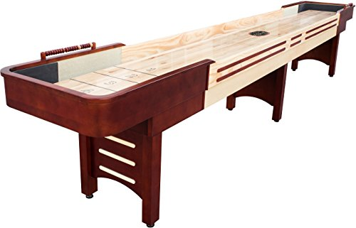 Playcraft Conventry 9' Cherry Shuffleboard Table/Butcher Block Bed & Camel Carpet