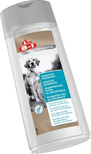 8in1 Sensitiv Shampoo für Hunde (für empfindliches Hundefell, frei von Farb- und Duftstoffen), 250 ml Flasche - 3