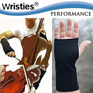 Performance Wristies Finger Free Gloves, Large, Black by Wristies