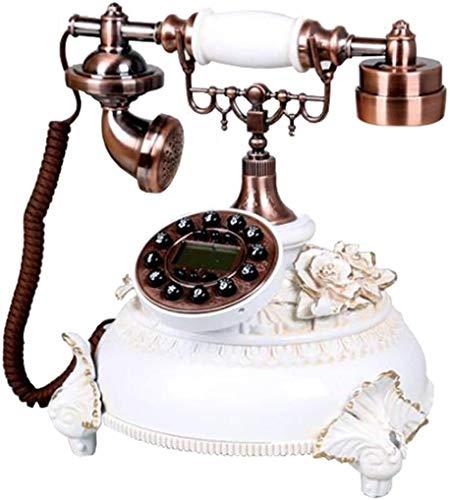 DHFDHD Teléfono Antiguo Teléfono clásico retro de la reproducción del estilo antiguo teléfono de dial Línea fija pasada de moda con cable de teléfono con la resina del cuerpo for Ministerio del Interi