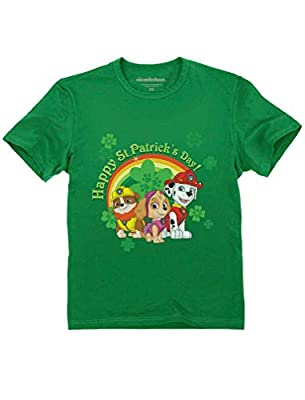 Tstars - Happy St. Patrick's Day Paw Patrol Gift Official Toddler Kids T-Shirt 4T Green
