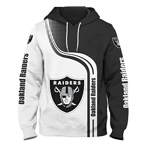 Hombres Sudaderas - Casual con Capucha De Fútbol Americano Raiders 3D Camiseta del Logotipo Sudadera Pulóver Equipo