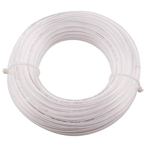 AIICIOO Pneumatic Air Line Tubing - Clear Pipe 1/4 Inch PU Air Hose for Air Brake System or Fluid Transfer Flexible 10 Meters 32.8 Ft Fit Quick Connect Fitting