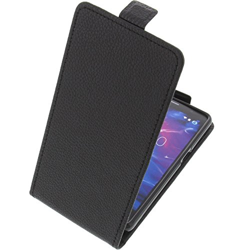 foto-kontor Tasche für MEDION Life S5004 Smartphone Flipstyle Schutz Hülle schwarz