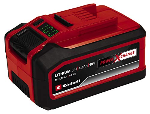 Einhell 18V 4-6Ah Multi Ah Power X-Change PLUS(18V Akku, universell verwendbar für alle PXC-Geräte, Ladezustandsanzeige in {337f2dbf25446e8ba43e6b63ac35299a1ae5c2d951109d5b21201729f365ad65} über Digitaldisplay, aktives Batteriemanagementsystem ABS, ohne Ladegerät)