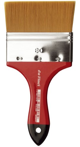 da Vinci Watercolor Series 5080 CosmoTop Spin Paint Brush, Wash Synthetic with Red Handle, Size 80 (5080-80)