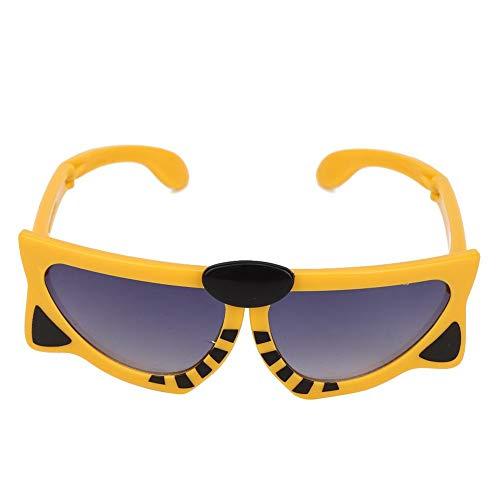 Gafas de sol para bebés, gafas de sol de gel de sílice plegables portátiles Patrón de animales de dibujos animados Fotografía de anteojos de verano Regalo de regalo para bebés y niñas 2 3 4 5 años(#1)