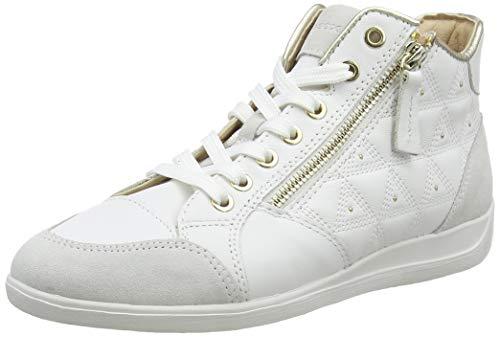 Geox D Myria B, Zapatillas Altas para Mujer, Blanco (White/Off White C1352), 38 EU