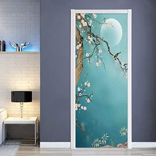Buy Wangc 3d Hand Painted Plum Flower Door Stickers Mural Decal Removable Vinyl Self Adhesive Waterproof Pvc Door Mural Living Room Bedroom Bathroom Home Classroomr Wallpaper Decor 77x200 30 3 X78 7 Online At Low Prices In