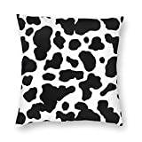 KING DARE Cow Print Pillow case Couch Cushion, Decorative Square Throw Pillow Covers Set, Cozy Soft, 18x18 Inch