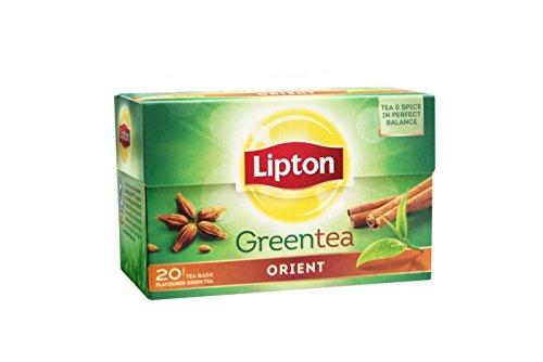 Lipton Green Tea Orient (tè verde e spezie) - 20 bustine singole x 6 confezioni = 120 bustine
