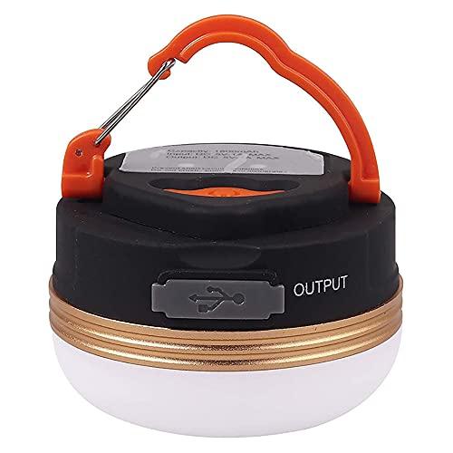 YDJGY LED Linterna Camping,Luz de Tienda PortáTil Recargable por USB,300 LM,3 Modos de Luz,Banco de EnergíA de 1800 Mah,IPX4 a Prueba de Agua,con Base MagnéTica,Emergencia,Pesca,Senderismo