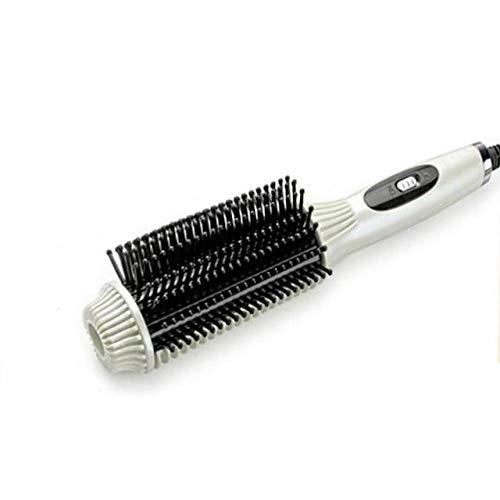Hair Curler Anti-échaudé Fers plats Redresser Brosse-curling Outil multifonctionnel Électrique Hair Salerder Comb/Blanc/200 * 70 * 20mm