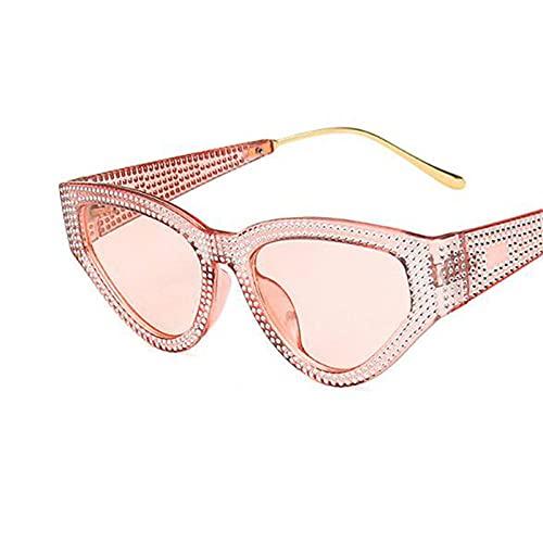 WQZYY&ASDCD Gafas de Sol Gafas De Sol Vintage para Mujer, Gafas De Sol De Lujo para Mujer, Gafas Punk para Hombre, Lentes para Mujer, Gafas De Sol para Hombre-Rosa