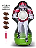 GoSports Inflataman Football Challenge | Inflatable Receiver Touchdown Toss Game, Red