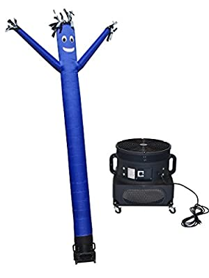 LookOurWay Air Dancers Inflatable Tube Man Complete Set with 1 HP Blower, 20-Feet, Blue