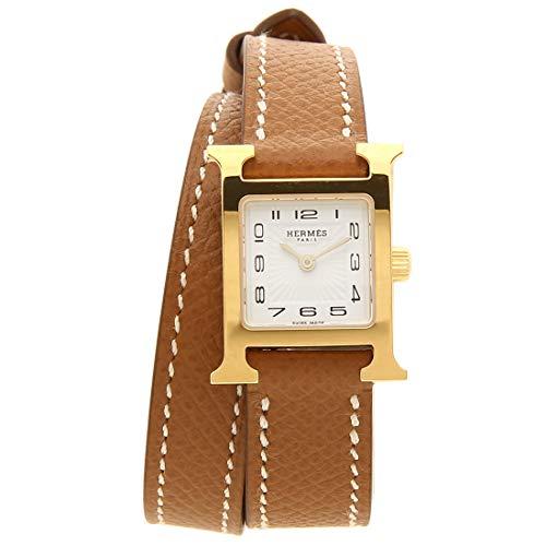[エルメス]腕時計 レディース HERMES W038178WW00 HH1.101.131/VBA2 Hウォッチ ミニ ブラウン イエローゴールド [並行輸入品]