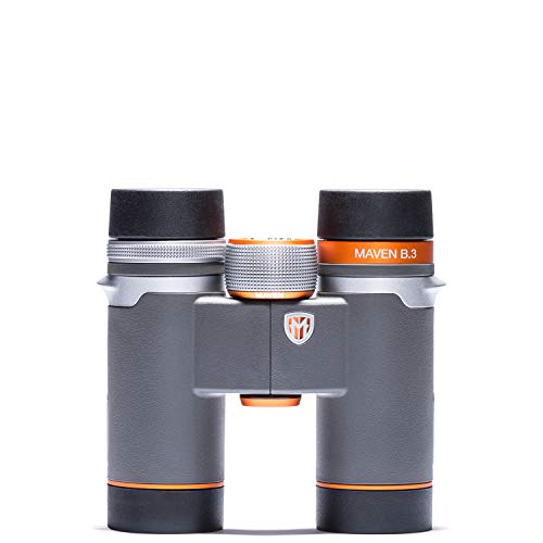 Maven B3 8X30mm ED Compact Binoculars Gray/Orange