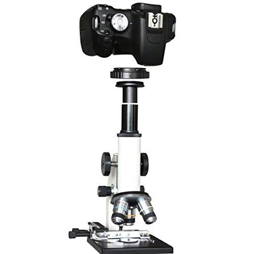 Gosky T T2 Objektiv-Adapter für Canon EOS und Mikroskop-Adapter mit 23,2mm Okular-Anschlüssen.