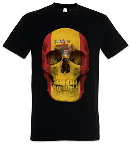 Urban Backwoods Classic Spain Skull Flag Camiseta De Hombre T-Shirt Negro Talla 5XL