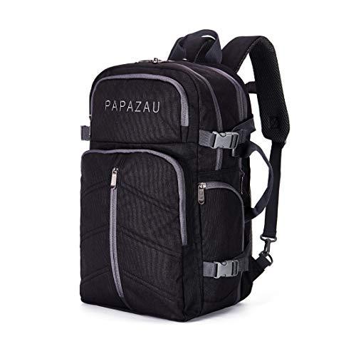 PAPAZAU 40L Travel Backpack Flight Approved Carry on Backpack Weekender Bag for Women Men