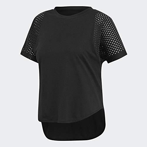 adidas W ID Mesh tee Camiseta de Manga Corta, Mujer, Negro (