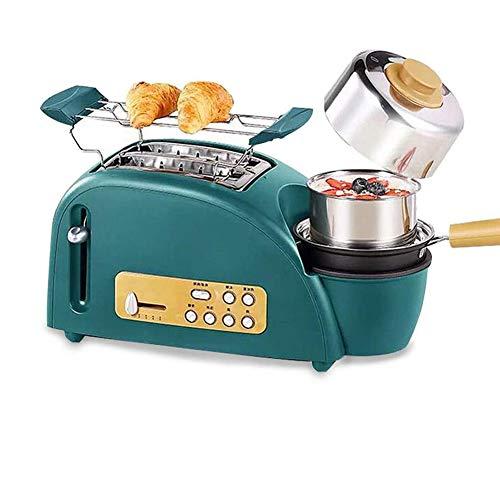 LXTIN 3 in1 Brotbackmaschine, Multifunktions automatisches Frühstücksmaschine Kaffeekanne Bratpfanne Ofen Brotbackmaschine Brot Toaster Spiegelei Kaffeekocher