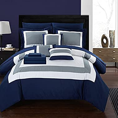 Chic Home Duke 10 Comforter Complete Bag Pieced...