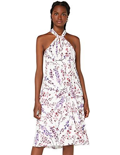 Amazon-Marke: TRUTH & Fable Damen Hochzeitskleid Multiway Midi, Mehrfarbig (White Blossom), 32, Label:XXS