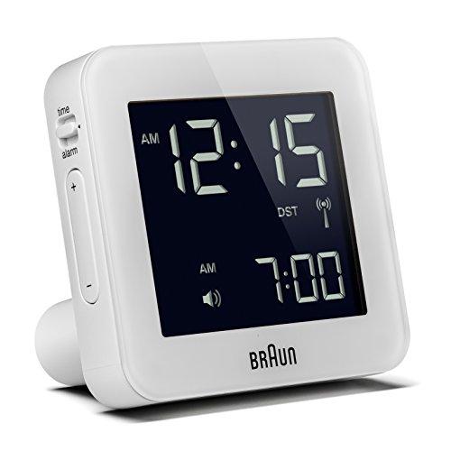 Braun BNC009WH-RC Digital Quartz Alarm Clock