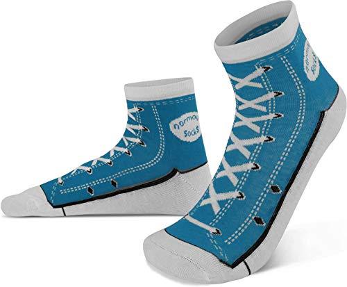 normani 4 Paar Socken im Schuh-Design mit vielen originalgetreuen Details Farbe Dunkelblau Größe 39/42