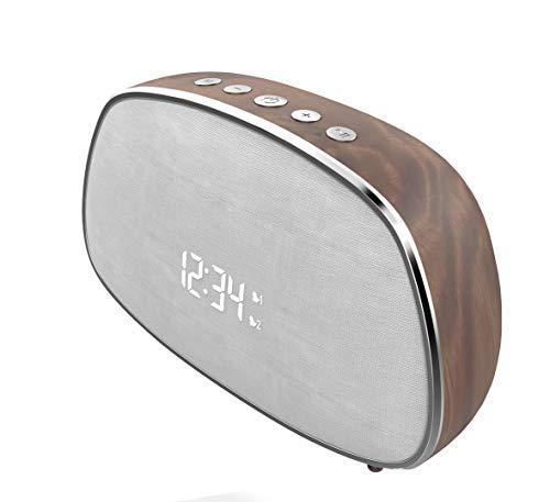 Blaupunkt MP2610-143 Radiowecker mit Lautsprecher, 5 W, Dunkles Holz