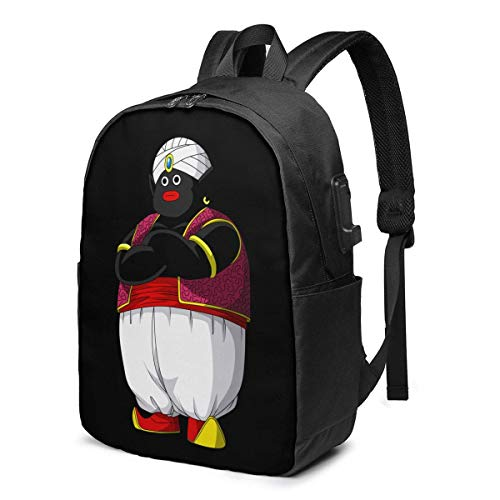 Mr. Popo Dragon-Ball 3D Animation USB Backpack School Bag School Bookbag Travel Bag Computer Bag